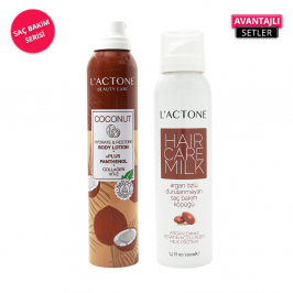 LACTONE Coconut Lotion + Hair Care Milk Set